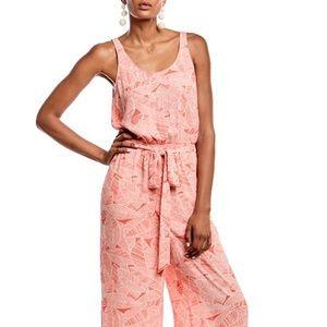 Pink Patterned Jumpsuit